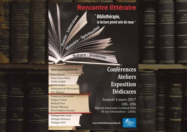 Rencontre littéraire les 2 et 4 mars 2017