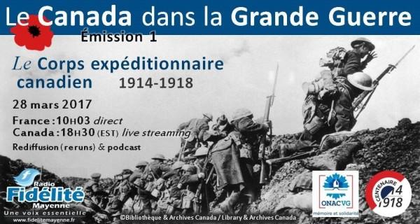 Le Canada dans la Première Guerre mondiale (1) – le Corps Expéditionnaire Canadien