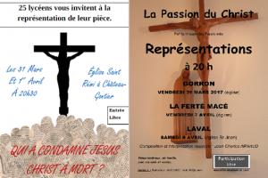 La Passion du Christ : représentations théâtrales en Mayenne pour se préparer à la vivre pleinement