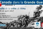 Le Canada dans la Première Guerre mondiale (2) – La bataille de la crête de Vimy