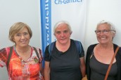 Martine Amelin, Maryse Lépron et Marie-Paule Seigneur, candidates pour Lutte Ouvrière