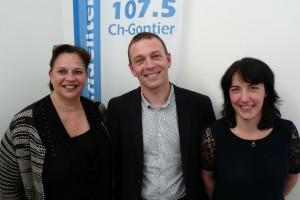 Béatrice Mottier, Géraldine Bannier et Josselin Chouzy, candidats pour La République En Marche