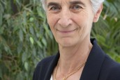 Véronique Fayet, la présidente du secours catholique est venue à Laval le mardi 23 avril