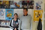 Avec Patrick Blu et Flavie Badier au comité handisport de la Mayenne